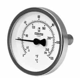 Termômetro bimetálico analógico preço