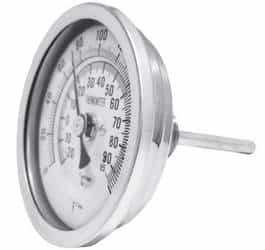 Termômetro bimetálico inox preço